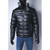 Кожаная куртка на мех подкладке качественный кож-зам