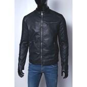 Кожаная куртка на мех подкладке (качественный кож-зам)