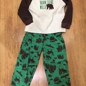 Пижама  Carter's флисовая на мальчика 2-3 года.