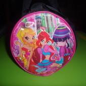 сумочка с винкс для девочек с обьемной картинкой и несколькими карманами БРОнь
