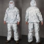 Маскировочный костюм белый камуфляж Multicam Apline .