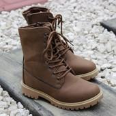 Ботинки высокие 2 цвета Т160