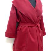 Кашемировое пальто Оверсайз. Размеры до 60.