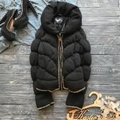 Стильная куртка-пуховик с цепями,р-р С-М