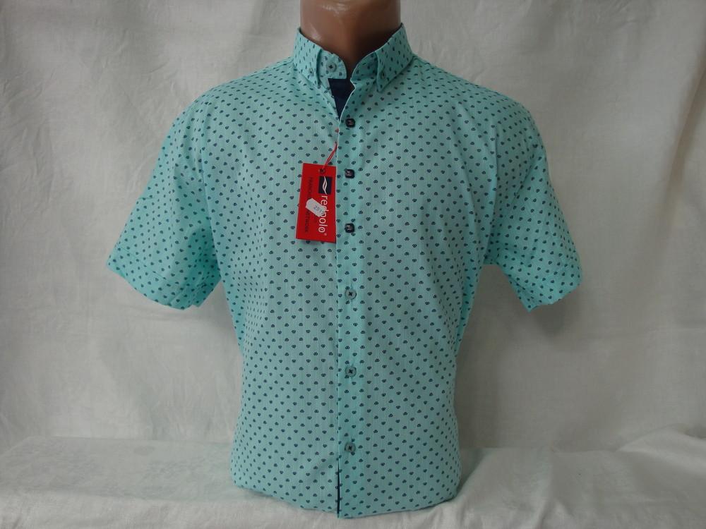Мужская рубашка с коротким рукавом Redpolo, Турция. Разные цвета. фото №1