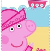 Детский флисовый плед Свинка Пеппа 100х150 для девочки
