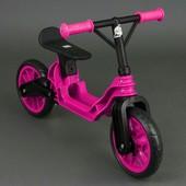 Пластиковый беговел байк Орион 503 розовый велобег