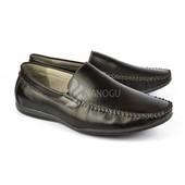 SALE Мокасины кожаные мужские Clemento черные легкие и удобные