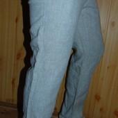 Бренндовие стильние брюки лен льон H&M 30-32 .м-л .