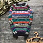 Яркий мужской зимний свитер Divided р-р С