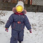 Зимний  комбинезон для девочки на 2-3 годика