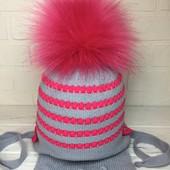 Комплект шапка шарф на малышек