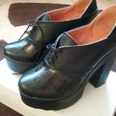 Акция!!! Кожанные туфли 500 грн