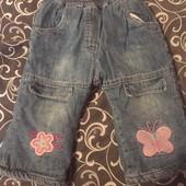 Тёплые джинсы на зиму 12-18m