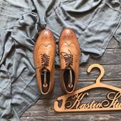Идеальные кожаные туфли броги Topman р-р 42