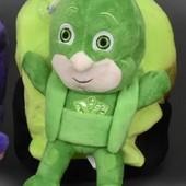 Детский плюшевый рюкзачок герои в масках , Гекко