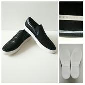 Фирменные кожаные слипоны Stylesnob, размер 40, стелька 26см