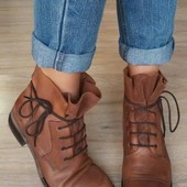 Кожа,Замша /италия minelli Оригинал ботинки, сапоги, полусапожки берцы  40,41р