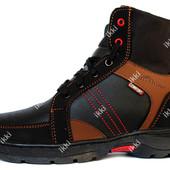 Мужские ботинки высокие на меху зимние СБ-11чр