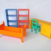 Мебель Ikea для кукол кровать стол стул шкаф