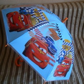 Зонт детский для мальчика машинки тачки
