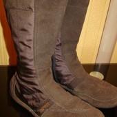 Деми замшевые модные сапоги Esprit 38 размер 24, 5-25 см стелька