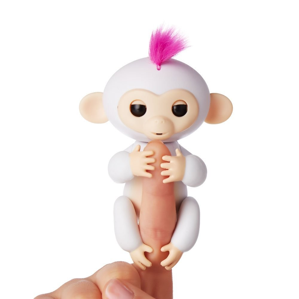 Wowwee fingerlings интерактивная ручная обезьянка софи белая interactive baby monkey - sophie фото №1