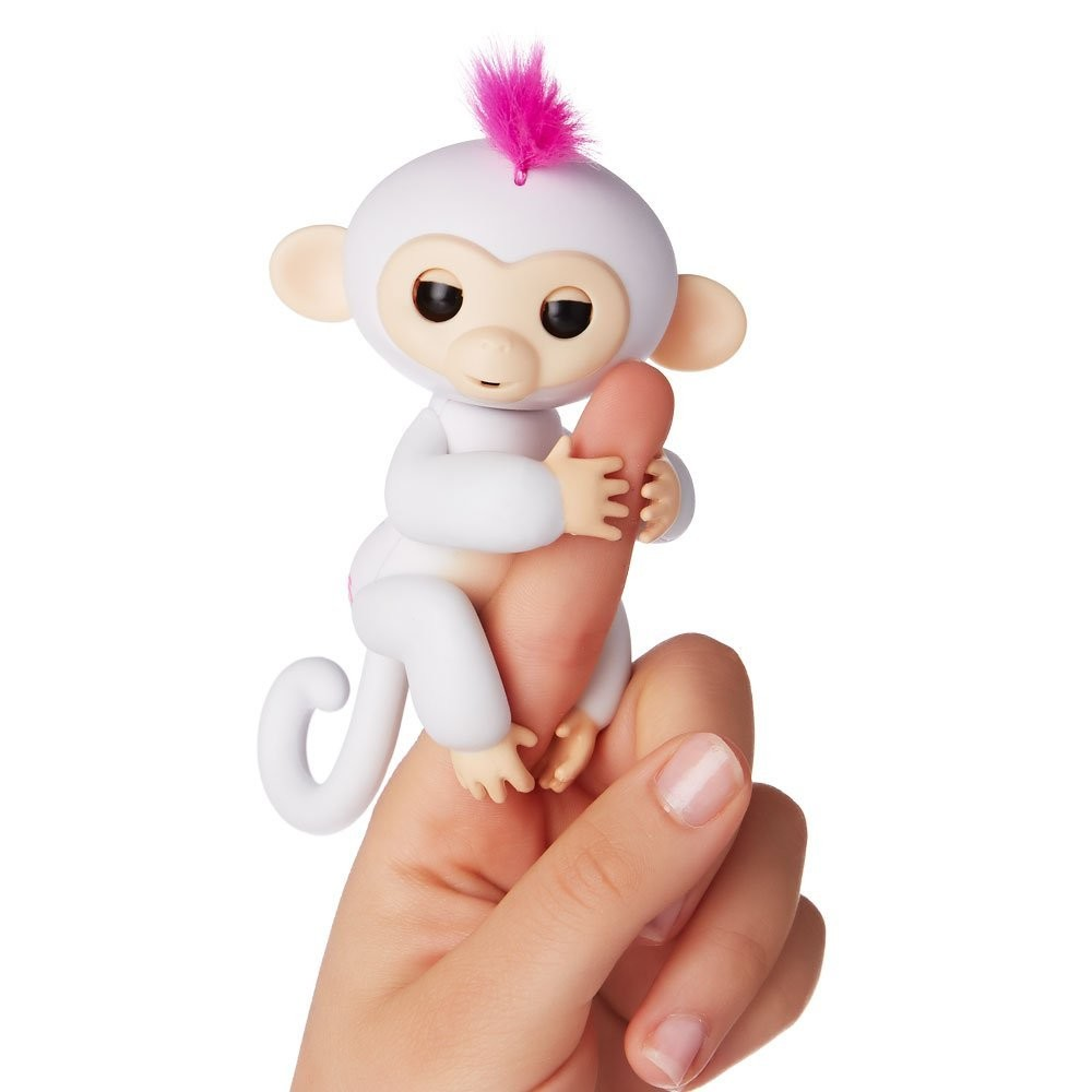 Wowwee fingerlings интерактивная ручная обезьянка софи белая interactive baby monkey - sophie фото №2