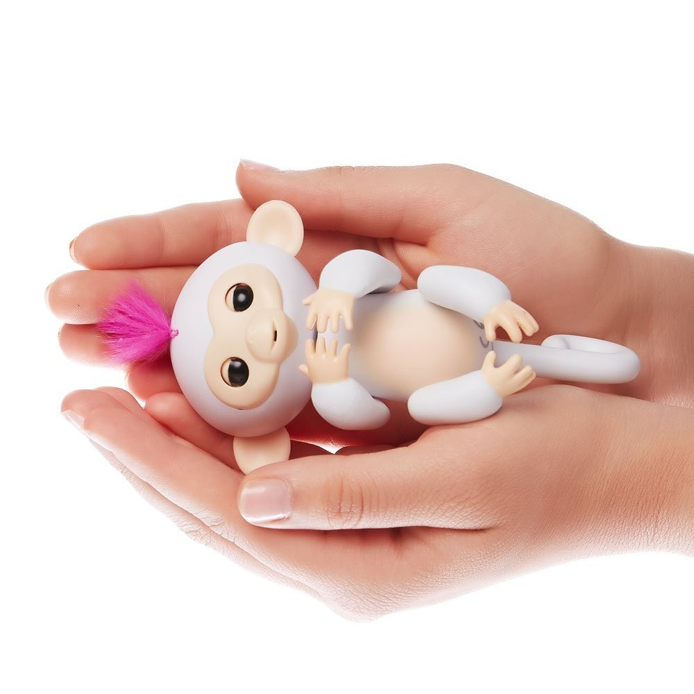 Wowwee fingerlings интерактивная ручная обезьянка софи белая interactive baby monkey - sophie фото №3