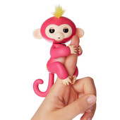 WowWee Fingerlings Интерактивная ручная обезьянка Белла bella pink baby monkey