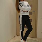 Купить модный теплый женский спортивный костюм D&N, белый