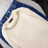 XXL Нюдовый свитерок с ожерельем dorothy perkins
