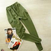 M-L Новые брюки оливкового цвета boohoo