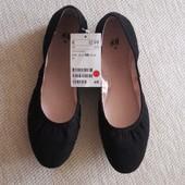 Черные балетки, туфли от H&M ! 38 размер