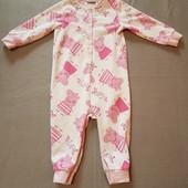 Пижама, слип, флис,Peppa Pig,2-3 года, р. 98.