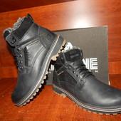 Мужские кожаные ботинки Riccone черные