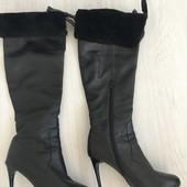Зимние кожаные сапоги Braska