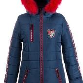 Зимние тёплые удлиненные куртки-парки для девочек, размеры 38-44,цвета разные