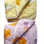 Зимнее детское стеганое одеяло наполнитель шерсть 100х140