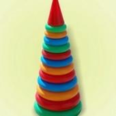Пирамидка 46см 12колец №3 Бамсик 019 Bamsic пирамида кольца