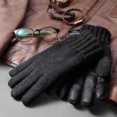 Солидные теплые перчатки Tchibo Германия, на микрофлисе, р.10