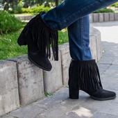 4 цвета полусапожки/ботинки натуральная замша/кожа демисезон /зима код Дю