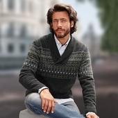стильный теплый шерстяной свитер М, L, XL размер Tchibo Германия