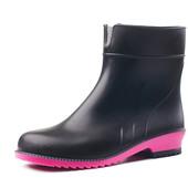 Полусапоги черные с ярко-розовой подошвой Литма Litma 36-41