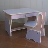 Бесплатная доставка! Столик и стульчик с регулировкой высоты. Лаванда/ сакура. Николаев