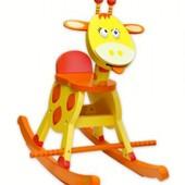 Деревянная качалка Жираф
