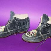 Замшевые винтажные ботинки 37 р