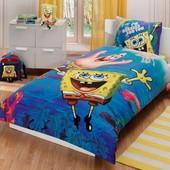 Постельное белье Tac Disney - Sponge bob underwater 160*220 подростковое Код  2749