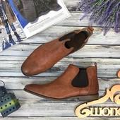 Кожаные челси, классического коричневого цвета  SH3994
