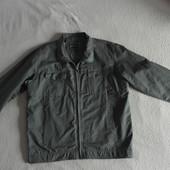 Классная куртка ветровка хаки большого размера